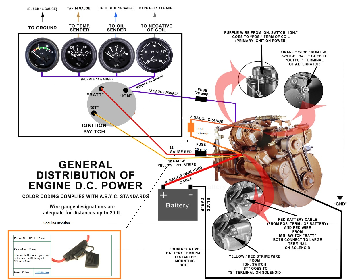 A4 Electrical Wiring Schematic - Moyer Marine Atomic 4 Community - Home of  the Afourians